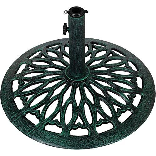 Maxstore Sonnenschirmständer Gusseisen grün, 17 kg