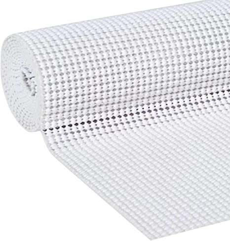 White Shelf Drawer Liner 12 x 36 Trim To Fit Anti-Slip Mat Under Rug Grip Non Skid