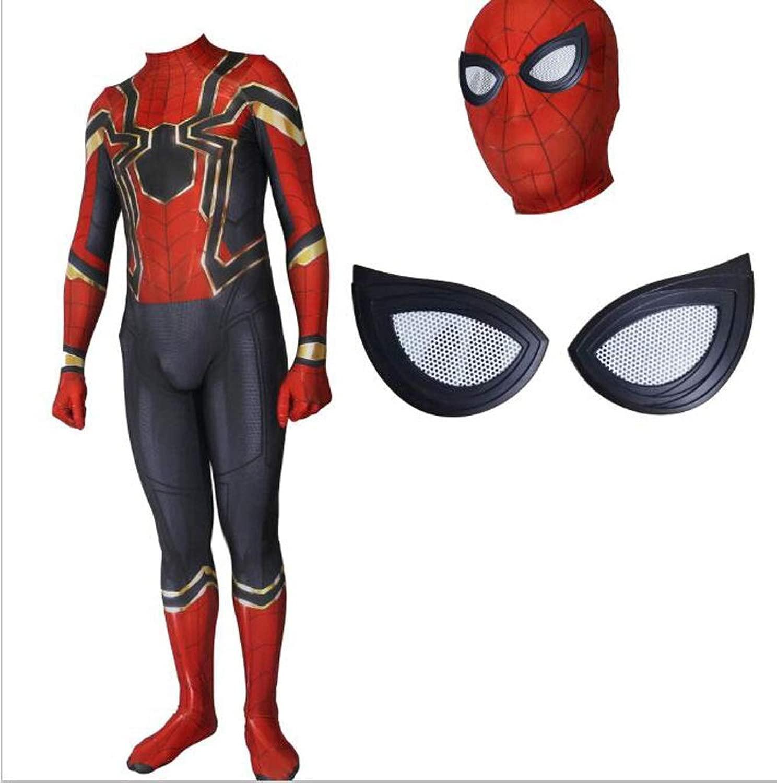 giocattoligiocoS Iron Spider-uomo Complesso 3 Costume Cosplay Calzamaglia Elastica Movie gioco Puntelli Costume ( Coloree   rosso-1 , Dimensione   XL )