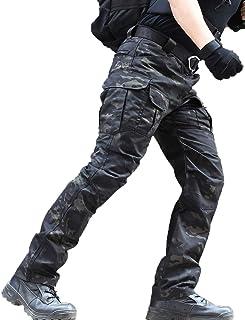 zuoxiangru Pantalones Resistentes al Agua para Hombres Pantalones de Trabajo de Carga Militar de Combate táctico de Ajuste...