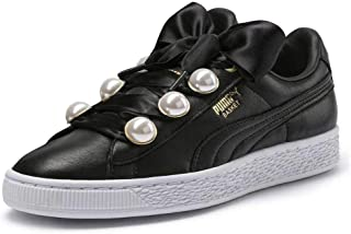 PUMA Womens Basket Bling Fabric Low Top Lace Up Fashion Sneakers US