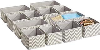 mDesign boîte de rangement respirable pour la chambre d'enfants – panier de rangement flexible – 8 petites et 4 grandes bo...
