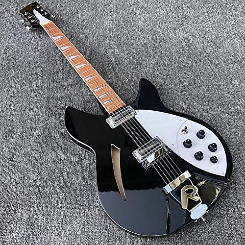 MLKJSYBA Guitarra 12 Cuerdas De Guitarra Eléctrica Guitarra Eléctrica Cuerpo De Pintura Negro, Diapasón Adornado Guitarras acústicas (Color : Guitar, Size : 41 Inches)