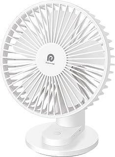 Dreamegg 卓上扇風機 静音 大風量 4段階風量調節 11時間連続動作 上下90°調節 クランプ式 USB 小型 充電式 卓上 扇風機 デスク ファン せんぷうき オフィス 熱中症対策 DG-F04 (ホワイト)