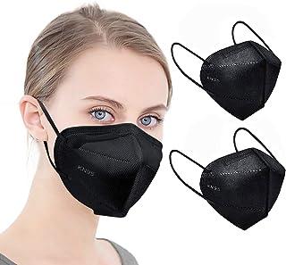 ماسک صورت KN95 مشکی 5 لایه ماسک های ایمنی گرد و غبار فیلتر کارآیی ≥95 B حلقه الاستیک گوش قابل تنفس ماسک سیاه 25pcs
