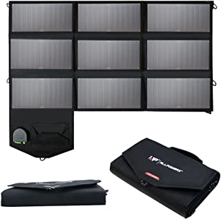 ALLPOWERS 60W Solar Panel Foldable SunPower Solar Charger (Dual 5V USB with iSolar Technology+18V DC Output) for Laptop, Tablet, ipad, iPhone, Samsung, Acer, Asus, Dell, HP,12V Car/Boat/RV Battery