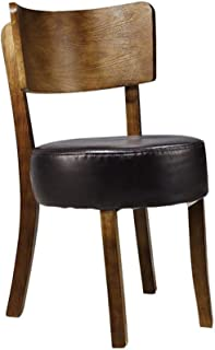 Silla de Comedor 2 sillas Marco de Madera Maciza Casual Dining Silla Suave Esponja de Alta Densidad de Asientos Sillas Restaurante de Cocina Silla de Rodillas