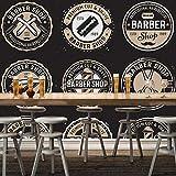 CQDSQN Fotos Barber Shop Runde Abzeichen Wandgemälde 3D