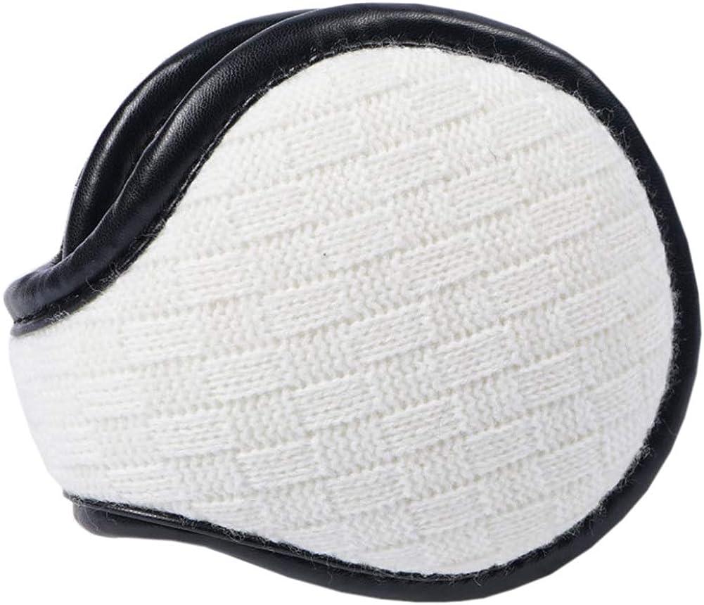 Unisex Outdoor Winter Warm Earmuffs Behind-the-Head Ear Muffs, WHITE