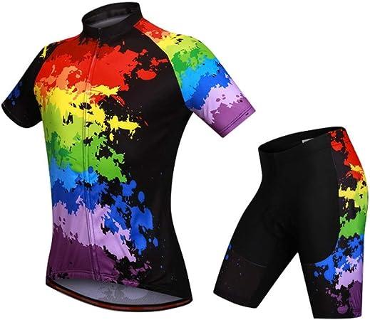 LOYFUN Trajes Ciclo Jersey, Conjunto de Ropa de Ciclismo de ...