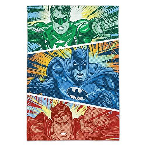 GRAPHICS & MORE Justice League Batman, grüne Laterne und Superman Rot, Blau und Grün Gartenhof Flagge Flag Only (No Pole) Multi