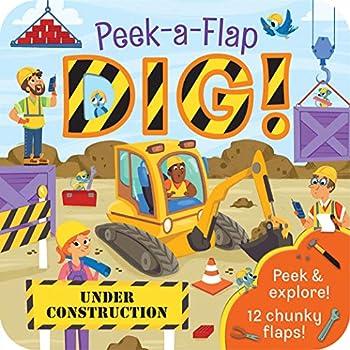 Dig  Peek-a-Flap Board Book