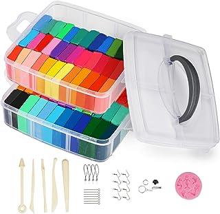صلصال بوليمر 50 لونًا، لعبة يدوية مبتكرة مع إكسسوارات المجوهرات وأدوات من الطين الناعم للخبز أفضل هدية للأطفال