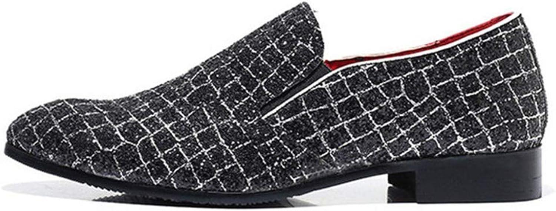 HhGold Männliche reizend Müßiggänger-Mann-Massage-atmungsaktive durchführende Kleid-Schuhe beiläufige Footware (Farbe   Schwarz, Größe   5 UK)  | Modern Und Elegant