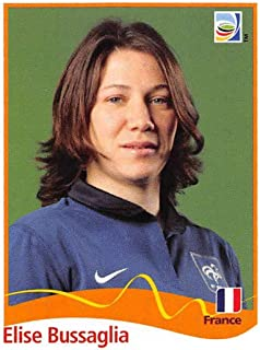 2011 Panini FIFA Women's World Cup Stickers Soccer #95 Elise Bussaglia France Official 2 inch X 2 1/2 Inch Album Sticker