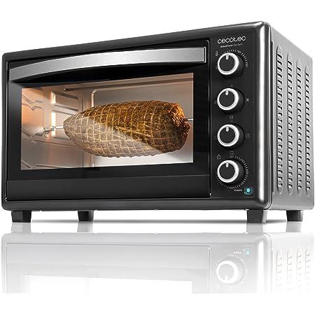 Cecotec Four à Convection Bake&Toast 750 Gyro. 46 L, 2000 W, 12 modes, Température jusqu'à 230 ºC et Temps jusqu'à 60 minutes, Inclus: Accessoire Rôtissoire avec pinces