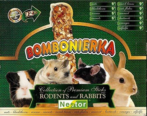 NESTOR Nagerfutter Knabberstangen Multipack für Nager und Kaninchen 12 Sticks