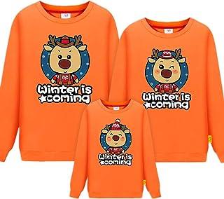 Morbuy Long Sleeve Sweatshirt, Cartoon Parent-Child Ladies Men Child Tops Crewneck Pullover Hoodie Without Hood Clothes