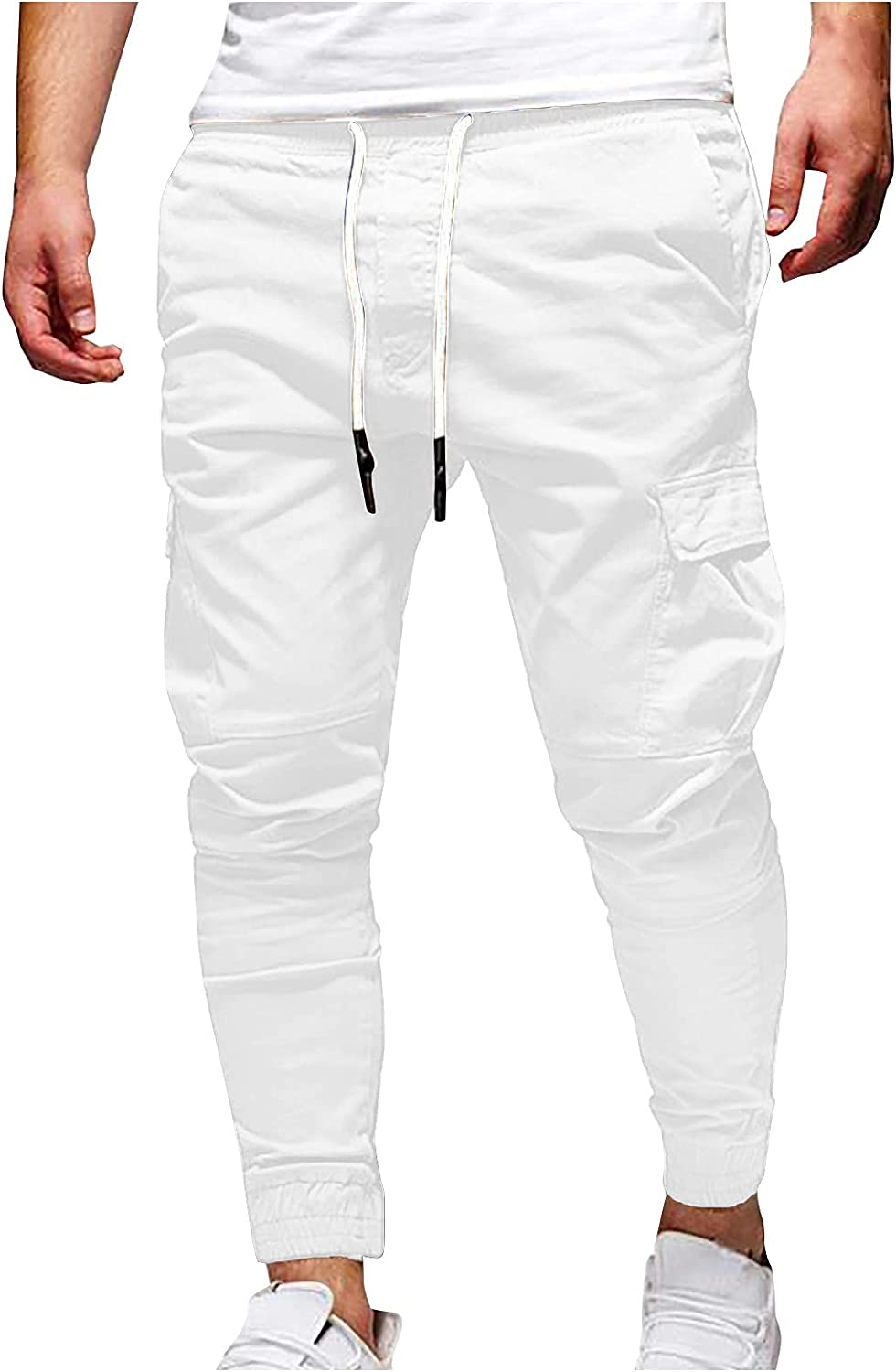 FIRERO Men's Casual Multi Pocket Pants Outdoor Relaxed Slim Fit Trousers Work Cargo Pants
