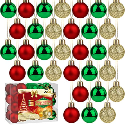 Ruisita 36 Pieces 25mm Christmas Balls Decoration...