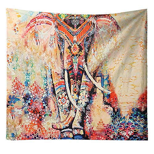 S-Chanson Psicodelico Mandala Elefante Tapiz de Pared Grande Indio Hippies tapices Pared Tela para Paño de Playa/Picnic/Mantel (Pattern 1, 200 x 150 cm)