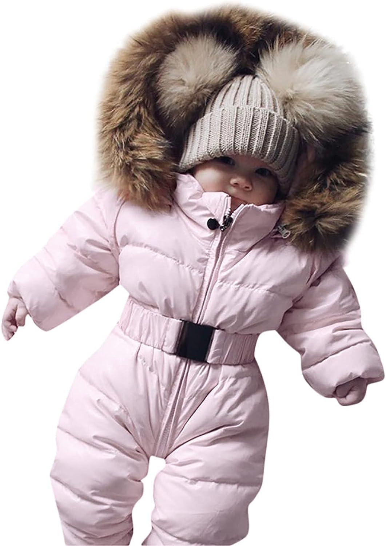 security Thick Warm Infant Alternative dealer Baby Jumpsuit Hooded Fleece Inside Wi Boy Girl