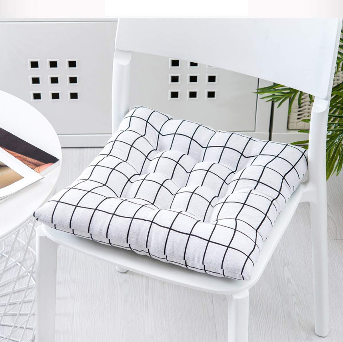 Grande Cojines sillas jardin exterior Cuadrado,Espesar Amortiguador de asiento de coche silla oficina Restaurante al aire libre Cómodos cojines para silla Patio de casa jardín-B 40x40cm(16x16inch): Amazon.es: Hogar