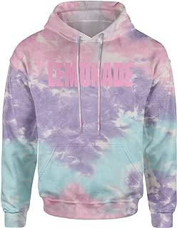 (Pink Print Lemonade Unisex Adult Tie-Dye Hoodie