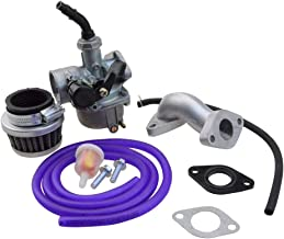 GOOFIT Carburador Minimoto, PZ19 con Filtro de Aire con Tubo combustible Kit de Tubo Combustible Accesorios para XR/CRF 50cc 70cc 90cc 110cc 125cc Scooter Ciclomotor ATV Quad Púrpura
