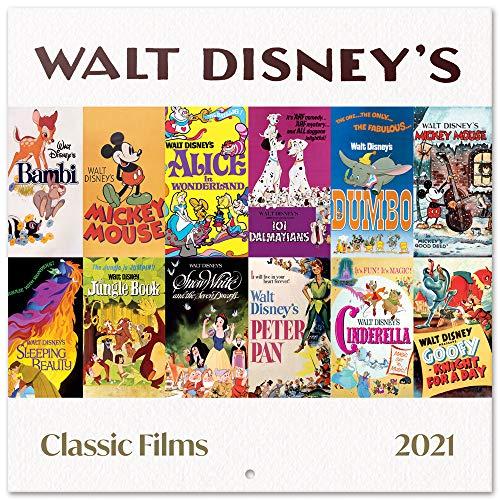 ERIK Calendario de pared 2021 Películas Clásicas Disney, 30x30 cm