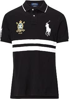 Men Custom Fit Big Pony Chest Stripe Polo Shirt