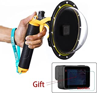 Fashionapple Estuche Impermeable con Puerto de Domo para GoPro Hero 5 6 7 2018 Cubierta de Lentes con Pistola de Disparo para Accesorios de Buceo con Lente de cámara GoPro