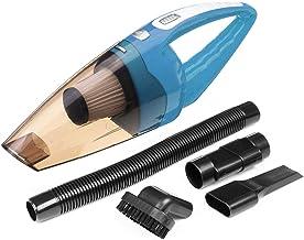 12V Twilled Car Vacuum Cleaner Mini Portable Handheld LED Kindling (Color : Orange) (Color : Blue)