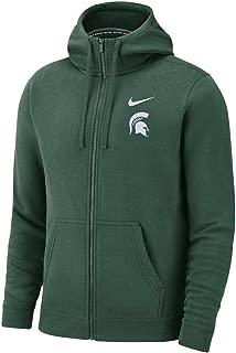Michigan State Spartans Full Zip Club Fleece Hoodie Sweatshirt (XX-Large)