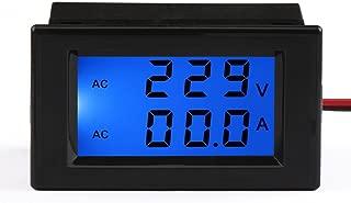 DROK Digital AC Amp Volt Multimeter Ammeter Voltmeter AC 200-450V 1-199.9A Ampere Tester Meter Car Motorcycle Motor 2in1 LCD Current Measure with Current Transformer CT