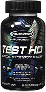 MuscleTech Test HD, Testosterone Booster Supplement, 90 Count