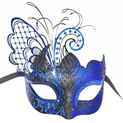 Masquerade Mask For Women Venetian Mask/Halloween/Party/Ball Prom/Mardi Gras/Wedding/Wall Decoration-Blue butterfly