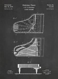 Steinway Piano Patent Print Art 1885