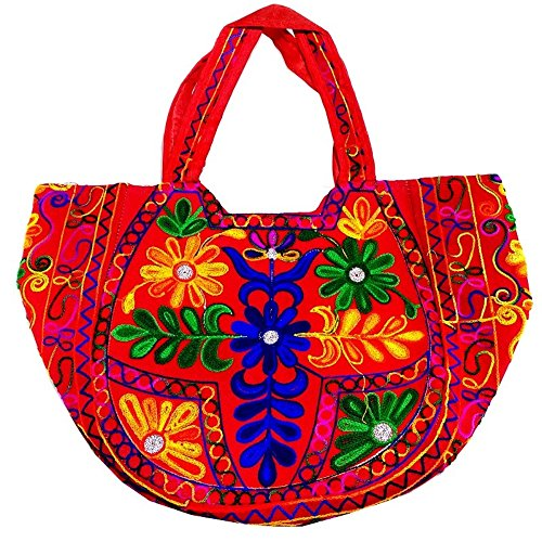 Handmade in India Shree Esportazioni cotone indiano Monk bag Boemia croce corpo unisex reversibile Hippi Shouler bag B 127