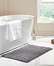 RT Designers Collection Erin 17 x 24 in. Cotton Bath Rug in Grey