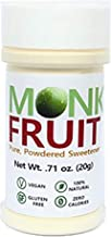 100% Monk Fruit Sweetener - Zero Calorie, Zero Carb, Paleo Safe (50% Mogroside V, 20g, 400 Servings)