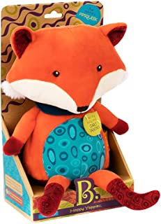 Maison Joseph Battat Happy Yappies Pipsqueek Plush Talking Fox-Press Belly and He Repeats What You Say