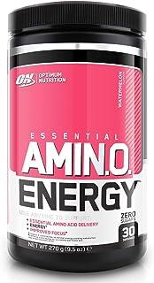 Optimum Nutrition ON Amino Energy Pre Workout en Polvo. Bebida Energética con Beta Alanina. Vitamina C. Cafeína. Aminoacidos Incluyendo BCAA. Sandía. 30 Porciones. 270g. Embalaje Puede Variar