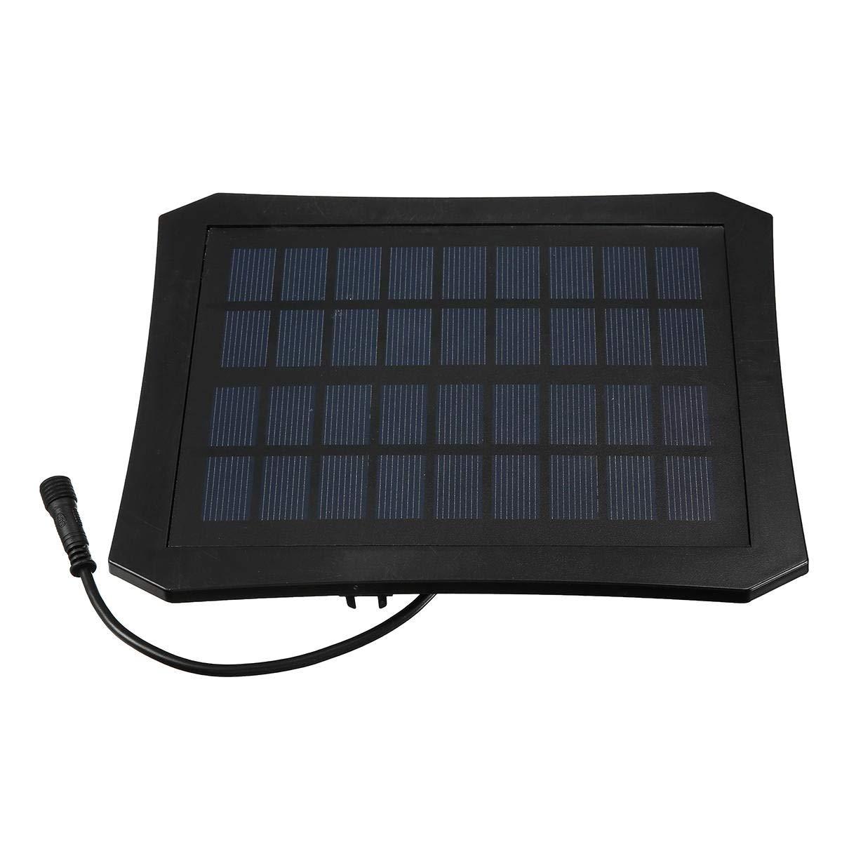 Bomba de Fuente Solar Temporizador de 7V / Luz LED Estanque de jardín Bombas sumergibles Fuente de energía solar Kit de bomba de agua for piscina: Amazon.es: Bricolaje y herramientas