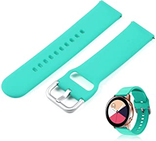 Foonee for Samsung Galaxy Watch Active Bands, 20mm Samsung Galaxy Watch Active Watch Strap, Soft Silicone Replacement Band Wristband Strap Bracelet Band for Samsung Galaxy Watch Active Smart Watch
