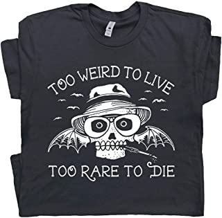 Hunter S Thompson T Shirt Fear and Loathing in Las Vegas Tee Too Weird to Live Rare to Die Vintage