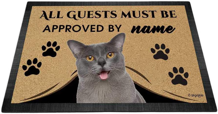 BAGEYOU Long Beach Mall All Guests Must be Approved with Doormat My Dog Love unisex Cat