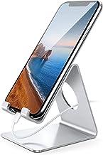 تلفن همراه Lamicall، پایه تلفن: پایه نگهدارنده گهواره سازگار با سوئیچ، همه گوشی های هوشمند آندروید، تلفن 6 6S 7 8 X Plus 5 5S 5C XS Max XR شارژ، لوازم جانبی میز - نقره ای