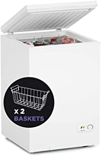 Northair Chest Freezer - 3.5 Cu Ft with 2 Removable Baskets - Reach In Freezer Chest - Quiet Compact Freezer - 7 Temperatu...