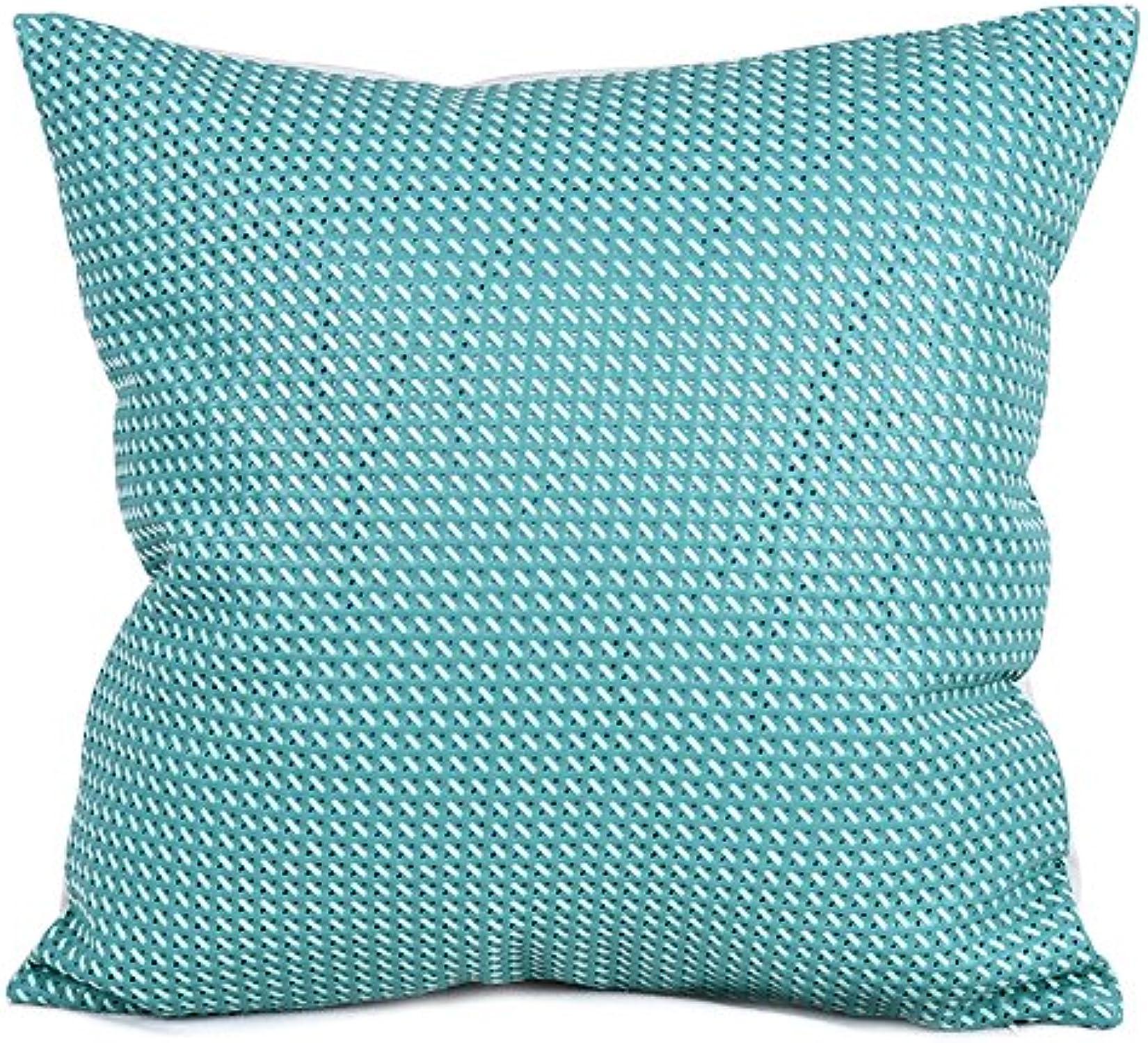 Vaevanhome Coussin en Cuir Bleu Et Vert Simple Moderne